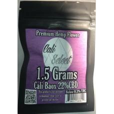 CALI SELECT BAOX 22% CBD FLOWER / 1.5g BAG