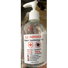 LONIMAX 8.45oz 75% HAND SANITIZER W/ PUMP / 1 BOTTLE