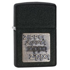 ZIPPO 362 Black Crackle Gold Zippo Logo $29.95