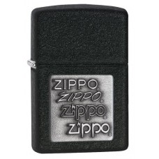 ZIPPO 363 Black Crackle Silver Zippo Logo $29.95