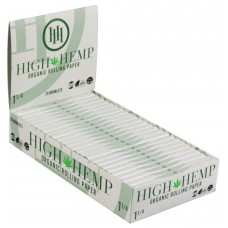 HIGH HEMP ORGANIC ROLLING PAPERS 1 1/4  25ct display