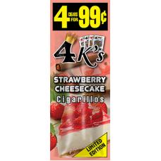 4 K'S cig Strawberry Cheesecake /15-4pk-99c