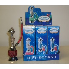 9 PC MINI HOOKAH W/RESIN DECO