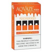 AQ VAZE PODS 4ct 5% NICOTINE /5pk PEACHYLICIOUS