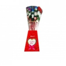 JUMBO ROSE w/BUTTERFLY/24ct