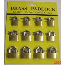 BRASS PAD LOCKS/12