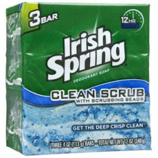 IRISH SPRING CLEAN SCRUB/12PK