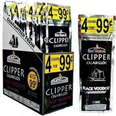 CLIPPER CIG. BLACK VOODOO / 15-4pk-99c (15)