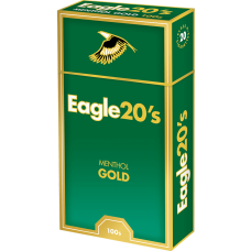 Eagle 20's Menthol Gold 100 Box