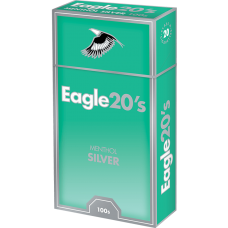 Eagle 20's Menthol Silver 100 Box