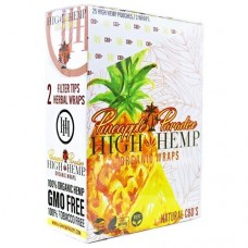 HIGH HEMP ORGANIC WRAPS / 25-2pk Pineapple Paradise