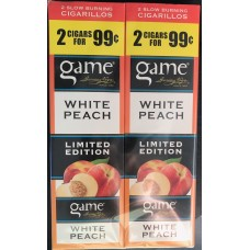 Game 2 for 99 cents/30 pouches WHITE PEACH (Limited Edition)