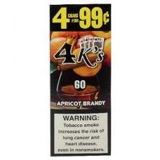 4 K'S cig Apricot Brandy/15-4pk-99c  (24)
