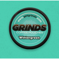 GRINDS COFFEE POUCHES B-VITAMINS WINTERGREEN /10