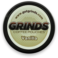 GRINDS COFFEE POUCHES B-VITAMINS VANILLA /10