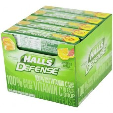 HALLS CITRUS VITAMIN C DEFENSE 20/9'S