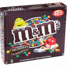 M&M PLAIN MILK CHOC / 48ct