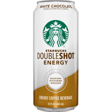STARBUCKS WHITE CHOCOLATE DOUBLE SHOTS ENERGY 12-15oz CANS