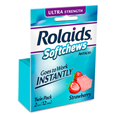 ROLAIDS Ultra Strength Softchews Strawberry/12