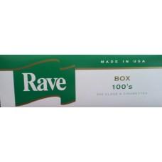 RAVE MENTHOL DARK GREEN 100'S BOX
