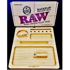 RAW BAMBOO ROLLING TRAY W/ MAGNET