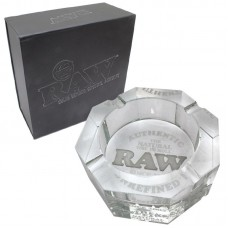 LIMITED EDITION! RAW GLASS ASHTRAY/1 3.5lb Lead Free Crystal Glass