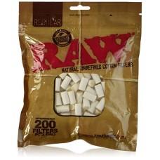 Raw Regular Cotton 200ct Filter Bag / 1