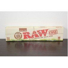 RAW ORGANIC HEMP PRE-ROLL CONES 32ct KING SIZE / 1