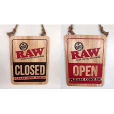 Raw Open Please Cone In Hanging Sign / 1