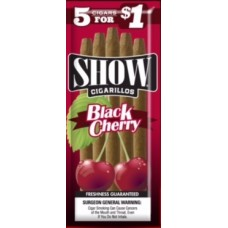 SHOW CIGARILLOS 5 FOR $1 BLACK CHERRY