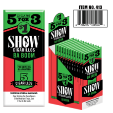 SHOW CIGARILLOS 5 FOR $1 STRAWBERRY KIWI (BA BOOM)