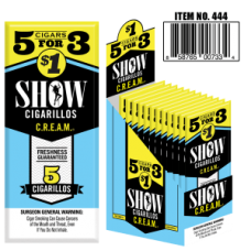 SHOW CIGARILLOS 5 FOR $1 CREAM