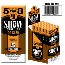 SHOW CIGARILLOS 5 FOR $1 KUSH