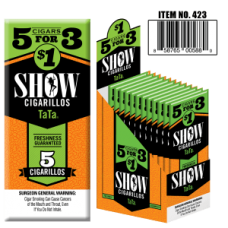 SHOW CIGARILLOS 5 FOR $1 PEACH MANGO (TATA)