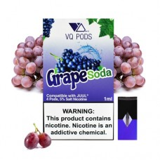 VQ PODS (COMPATIBLE) 5% NICOTINE 4pods / 5ct Grape Soda