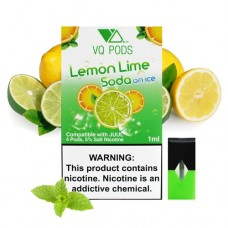 VQ PODS (COMPATIBLE) 5% NICOTINE 4pods / 5ct Lemon Lime Soda On Ice