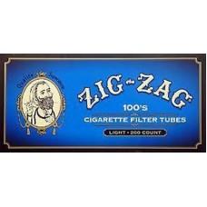 ZIG-ZAG WHITE TIPPED100'S TUBES/5-200