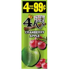 4 K'S cig Cranberry Apple /15-4pk-99c #992021