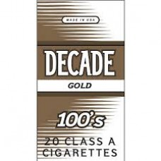 DECADE GOLD 100'S BOX