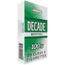 DECADE MENTHOL 100'S BOX