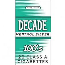 DECADE MENTHOL SILVER 100'S BOX