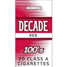 DECADE RED 100'S BOX