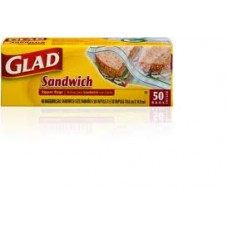 GLAD ZIPPER SAND. BAG/50