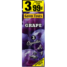 GOOD TIMES Cig. Grape/30-3pk-99c PACK
