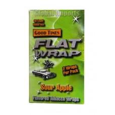 GOOD TIMES FLAT WRAP SOUR APPLE/25-2pk-79c (25)