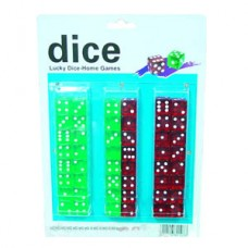 LARGE DICE ON CARD  24 / 2'S