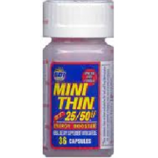MINI THIN 25/50 BOTTLE/12