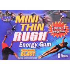 MINITHIN RUSH GUM/12-8PK