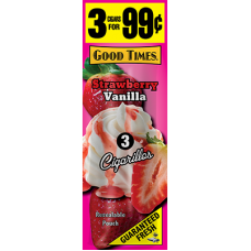 GOOD TIMES Cig. Strawberry Vanilla/15-3pk-99c #998343