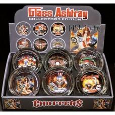 CHOPPCAS GLASS ASHTRAY/6